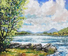 Lough Lannagh Castlebar Painting by Conor McGuire