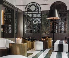 Interni contemporanei e tradizione milanese neoclassica per la Hall di Senato Hotel Milano