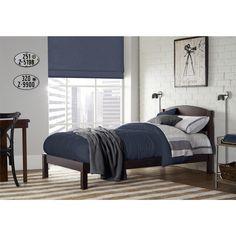 Dorel Living Braylon Espresso Twin Bed (Twin bed, espresso), Brown