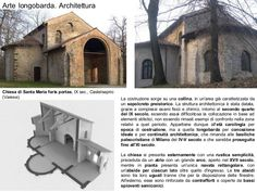 Architettura Chiesa di Santa Maria foris portas, IX sec. Dark Ages, Santa Maria, Europe, Mansions, History, World, House Styles, Slab Doors, Italia