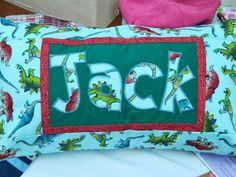 Handmade Name cushion, kids cushion, Christmas gift or birthday gift