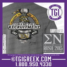 TGI Greek - Sigma Nu - Fraternity Recruitment - Rush - Greek T-shirts - Comfort Colors -  #tgigreek #sigmanu #rush