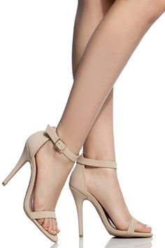 Nude Faux Nubuck Single Sole Ankle Strap Heels @ Cicihot Heel Shoes online store sales:Stiletto Heel Shoes,High Heel Pumps,Womens High Heel Shoes,Prom Shoes,Summer Shoes,Spring Shoes,Spool Heel,Womens Dress Shoes
