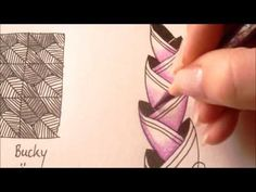 ▶ How to draw tanglepattern Awrop - YouTube