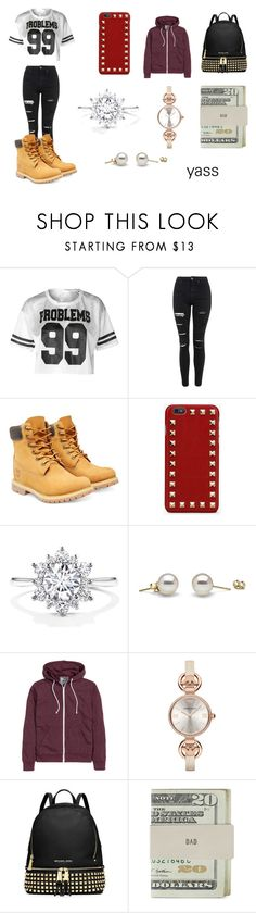 """""""YASS"""" by emojiqveen ❤ liked on Polyvore featuring Topshop, Timberland, Valentino, H&M, Giorgio Armani, MICHAEL Michael Kors and Jack Spade"""