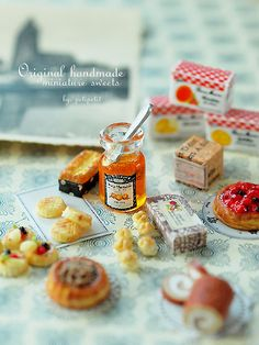 Miniature sweets and pastries