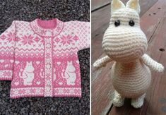 Kalder alle Mumi-elskere - strik eller hækl dine egne Mumidesigns | Boligmagasinet.dk Amigurumi Patterns, Baby Knitting Patterns, Baby Patterns, Free Knitting, Stitch Patterns, Crochet Patterns, Crochet Mermaid Blanket, Crochet Doll Dress, Drops Design