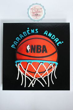 misweetcake ♥ Cake Design: NBA Cake / Bolo NBA/ Basketball https://www.facebook.com/misweetcakedesign/ https://www.instagram.com/misweetcake/