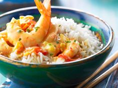 Shrimp with curry Asian Noodle Recipes, Healthy Asian Recipes, Healthy Recipes On A Budget, Curry Recipes, Healthy Snacks, Vegetarian Recipes, Curry Shrimp, Salty Foods, Steak Bites
