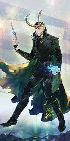 [ Thorki ] Best Fanarts And Doujinshis - Loki-sama! Loki Art, Thor X Loki, Marvel Dc Comics, Marvel Avengers, Loki Wallpaper, Heros Comics, Loki Drawing, Asgard, Loki God Of Mischief