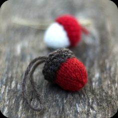 Items similar to Acorn Knitting Pattern, Knit Christmas Ornament, Knitted Holiday Decoration, DIY Rustic Home Decor on Etsy Kwanzaa, Knit Christmas Ornaments, Knitted Christmas Decorations, Fall Decorations, Christmas Trees, Thrift Store Crafts, Christmas Knitting Patterns, Yarn Stash, How To Purl Knit