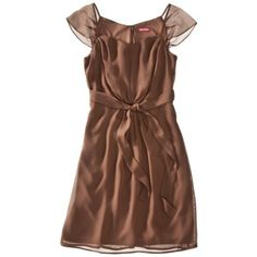 Merona® Womens Georgette Flutter Sleeve Dress - Assorted Colors