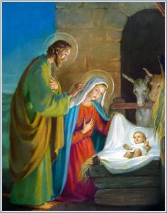 Nativity of Jesus Christ - Old pictures with depictions of Virgin Mary and Nativity of Child Jesus. Christmas Jesus, Christmas Nativity Scene, Christmas Scenes, Christmas Colors, Christian Paintings, Christian Artwork, Jesus Birthday, O Holy Night, Religious Images