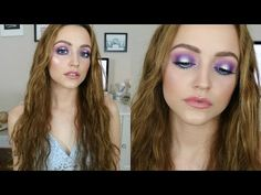 Mermaid Halo Makeup Tutorial - Beauty and Make UP Videos Foil Eyeshadow, Purple Eyeshadow, Eyeshadows, Makeup Tutorials Youtube, Beauty Tutorials, Red Lips Wedding, Wedding Makeup, Costume Makeup Tutorial, Bronzer Makeup