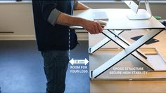 OPLØFT - OPLØFT - A slim height-adjustable work surface that enables you to change position quick and easy to achieve all the ergonomic benefits. On Kickstarter.
