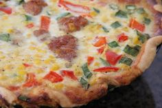 Mix and Match Mama: Corn and Red Pepper Quiche