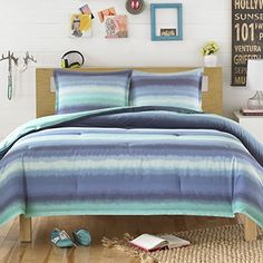 Teen Vogue Electric Beach Comforter Set, Twin, Striped, Blue Teen Vogue http://www.amazon.com/dp/B00UJ9EKW6/ref=cm_sw_r_pi_dp_CGcLvb1YRJ7K9
