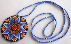 Huichol Beaded Star Necklace by Aramara on Etsy