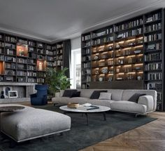 #ModularSystem #modular_system #furniture #interior Модульная система Poliform Wall System, poliform-wall-system-1