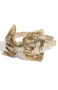 Sequin Bow Headband.