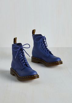 March Through Manhattan Boot in Cobalt. Stylish originality pulses through the city, but your panache rises above the rest when you strut the sidewalks in these cobalt blue Dr. #blue #modcloth