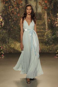 Something Blue: Wedding Decor and Bridal Look Inspiration - blue wedding dress Jenny Packham 2016 Spring
