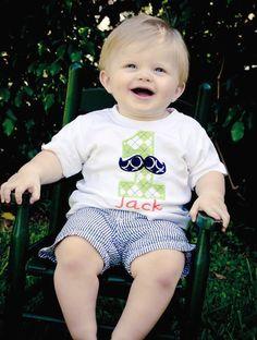 Little Man Mustache Birthday Shirt  -