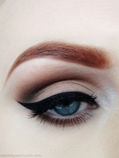 Natural Makeup brown - Maquillaje natural cafe pin up ♛