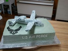 U.S. Air Force rice crispy treat A-10 warthog1 cake by Brittny Miller with Artisan Kitchen in Paducah, Ky