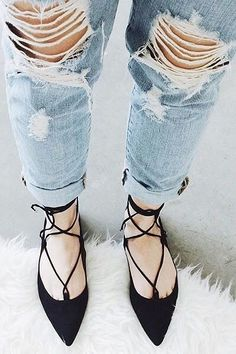 Bonnie Pointed Toe Lace Up Flats - Find the perfect outfit for any occasion at ShopLuckyDuck.com