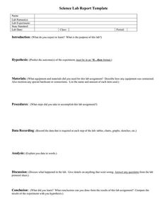 000 Lab Report Format Doc Environmental Science Lessons