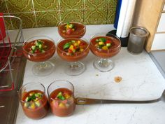 Gourmandises végétariennes: Gazpacho (vegan)