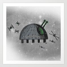 Death Star Bug Art Print by TheCore - $19.00