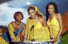 Pin for Later: A Look Back at the Best of the Teen Choice Awards  Beyoncé Knowles shared the stage with her fellow Destiny's Child members, Kelly Rowland and Michelle Williams, for the Teen Choice Awards in 2001.