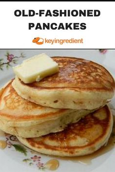 Anybody can add water to a boxed package mix, but you'll be glad you made these tender, light, buttery, and delicious pancakes from scratch! Old-Fashioned Pancakes Recipe - - Tasty Pancakes, Pancakes And Waffles, Best Homemade Pancakes, Banana Pancakes, Homemade Pancake Recipes, Homade Pancakes Recipe, Easy Pancake Recipe Without Milk, Ihop Pancake Recipe Without Buttermilk, Desert Recipes
