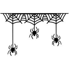 Silhouette Design Store: creepy spiders