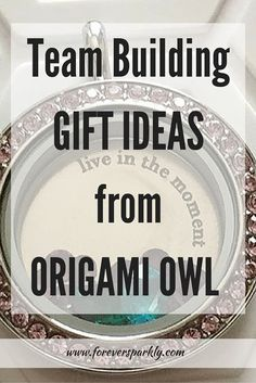Do you lead a team of individuals for your job? Are you a group coach or someone people look up to? Giving a gift to team members is a great way to motivate and celebrate. Click for team building Gift Ideas from Origami Owl.