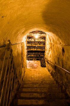 Down into the wine cellars of the Verduno Castle in Barbaresco. Cantina - Castello di Verduno by il_baro, via Flickr