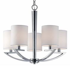 Canarm ICH425A05CH 5 Light Milano Chandelier