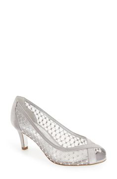 33ace26eaf Adrianna Papell 'Zandra' Crystal Embellished Peep Toe Pump (Women)  available at…