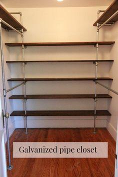 DIY galvanized pipe closet                                                                                                                                                     More