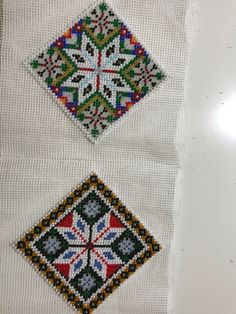 Made by Inger Johanne Wilde. Pattern and beading Norway, Beading, Bohemian Rug, Cross Stitch, Textiles, Jewellery, Embroidery, Rugs, Christmas