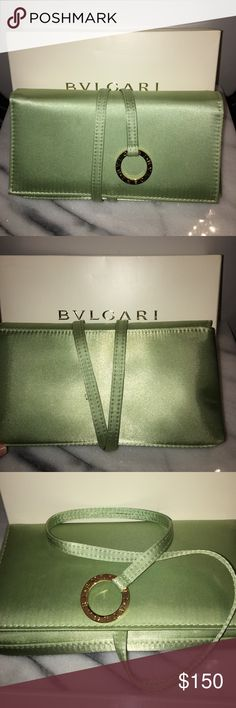 BVLGARI Like New Satin Evening bag satin free wrap around evening clutch. LIKE NEW. Bags Clutches & Wristlets