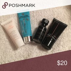 TRAVEL/SAMPLE Cleanser Bundle TRAVEL/SAMPLE sizes of the following:  foreo day cleanser, glamglow mud to foam cleanser, shamanuti activated charcoal cleanser, and whish revitalizing cleansing oil. Makeup