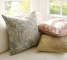 Alessandra Floral Pillow Covers | Pottery Barn....love the blue color