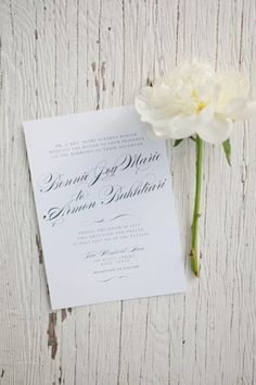 classic white   black invitation | Caroline Joy