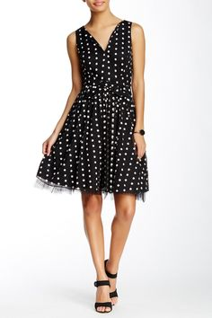 Keridan Mesh Embroidered Fit & Flare Dress by Eva Franco on @nordstrom_rack