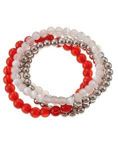 accessory PLAYS® NCAA University Of Wisconsin Five Row Stretch Bracelet