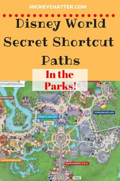 Disney World secret shortcut paths you need to know about in the parks before your next vacation! Learn about the secret shortcut paths in the Disney World parks so you can get around a lot quicker and with less crowds on the paths. Disney World Secrets, Disney World Tips And Tricks, Disney Tips, Disney Fun, Disney Travel, Disney Mickey, Disneyland Secrets, Disney Family, Disney Magic