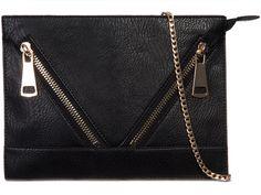 £10 Black Women Fashion, Womens Fashion, Black Clutch Bags, Fashion Accessories, Zip, Wallet, Chain, Detail, Pocket Wallet